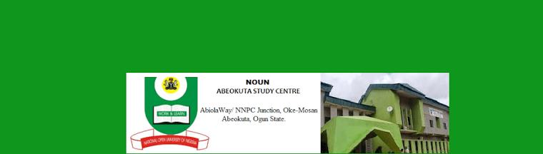 NOUN ogun state study centre